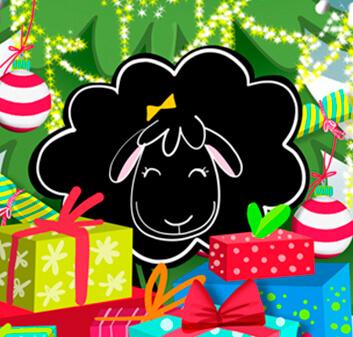 Betty Sheep Christmas - Printable